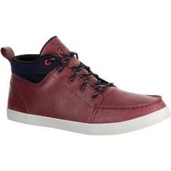 Chaussures bateau cuir homme KOSTALDE bordeaux