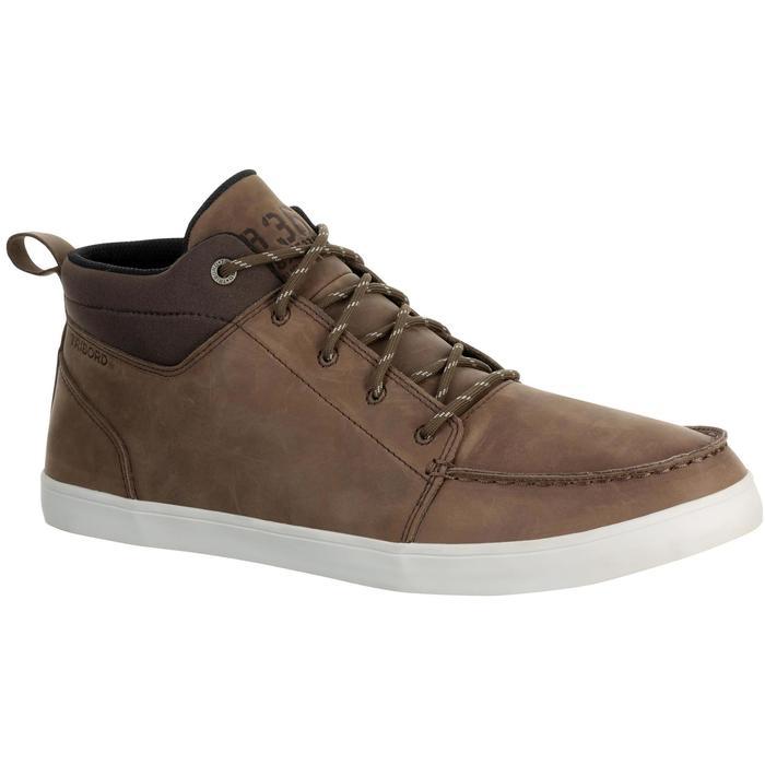 Zapatos náuticos de cuero para hombre KOSTALDE RAIN marrón