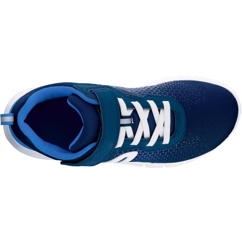 Soft 140 children's fitness walking shoes navy/white