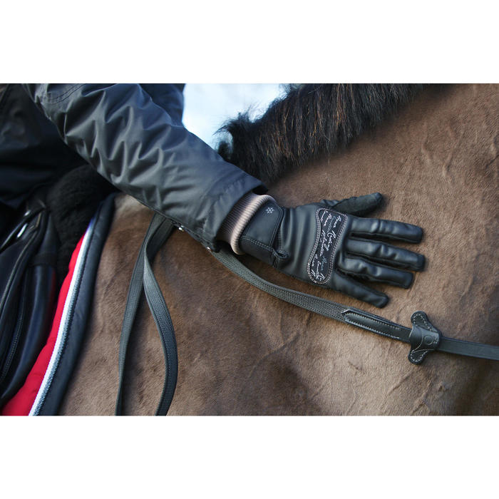 Gants équitation adulte KIPWARM - 96605