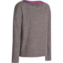 T-shirt met lange mouwen dans meisjes Mouline grijs
