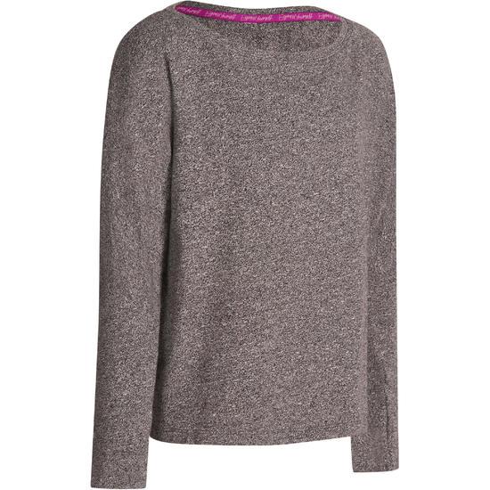 T-shirt met lange mouwen dans meisjes Mouline grijs - 966214