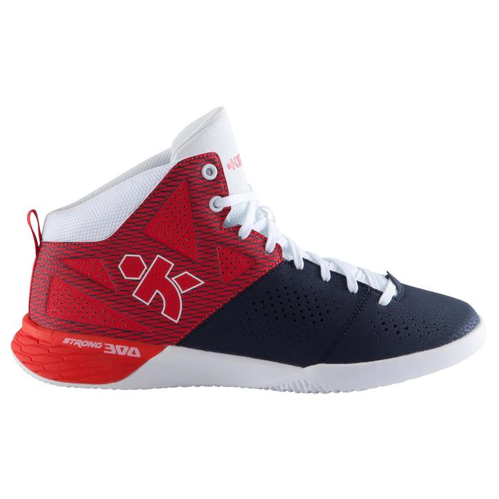 CHAUSSURE BASKETBALL POUR ADULTE H/F DEBUTANT STRONG 300 II BLEU MARINE ROUGE