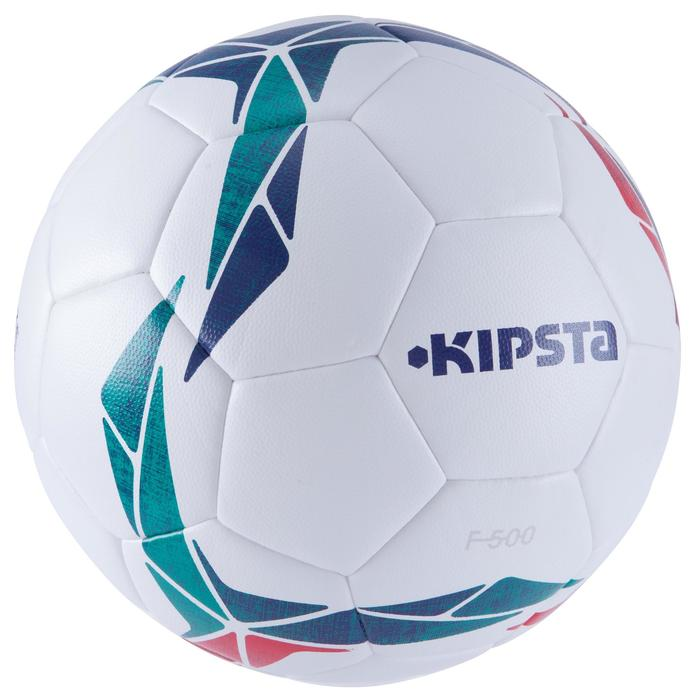Ballon de football F500 Hybride taille 4 blanc rouge vert