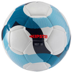 Voetbal Society 500 hybride maat 5 wit/blauw