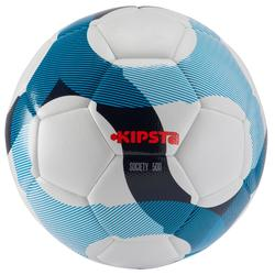 Balón de fútbol Society 300 Híbrido blanco azul