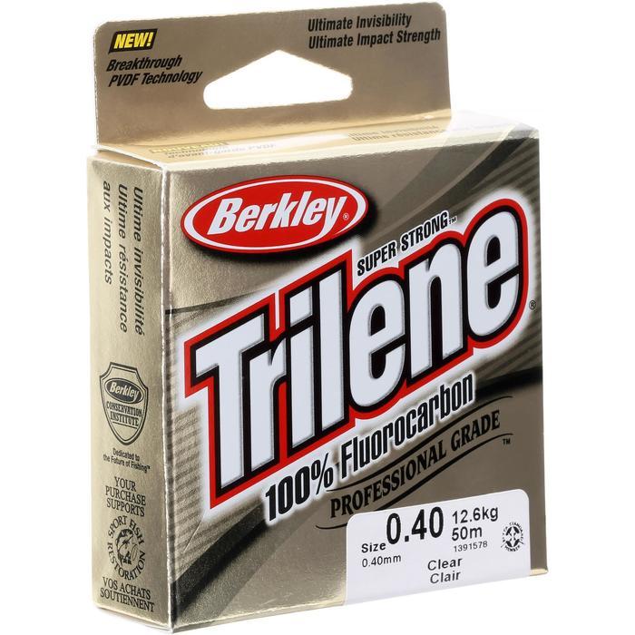Fluorocarbon voor kunstaasvissen Triline 100% fluorocarbon 50 meter 40/100