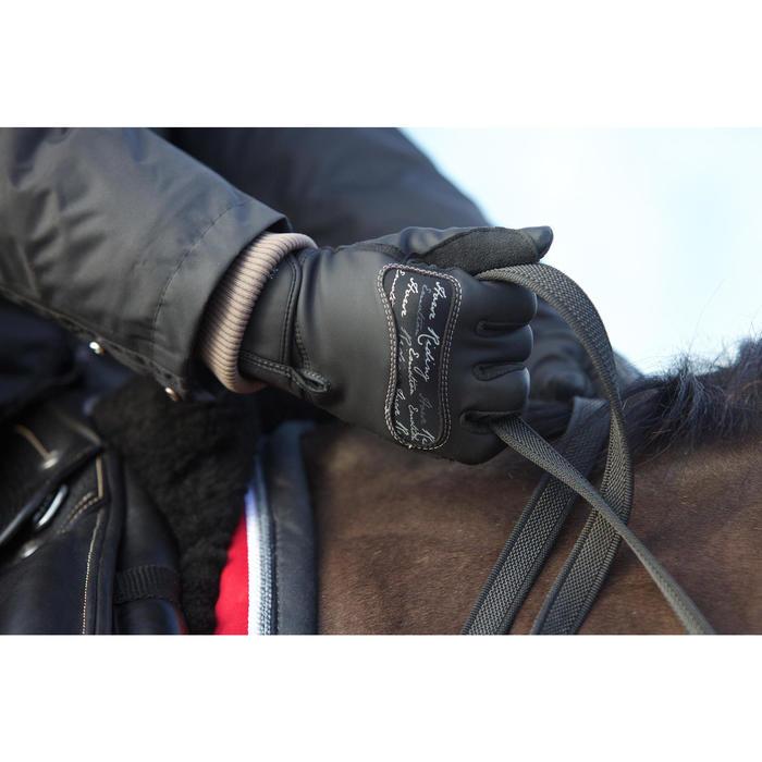 Gants équitation adulte KIPWARM noir