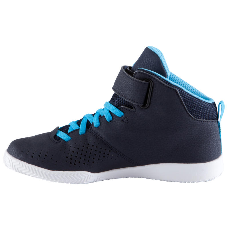 Strong 100 Boys'/Girls' Basketball Shoes For Beginners - Navy/Blue