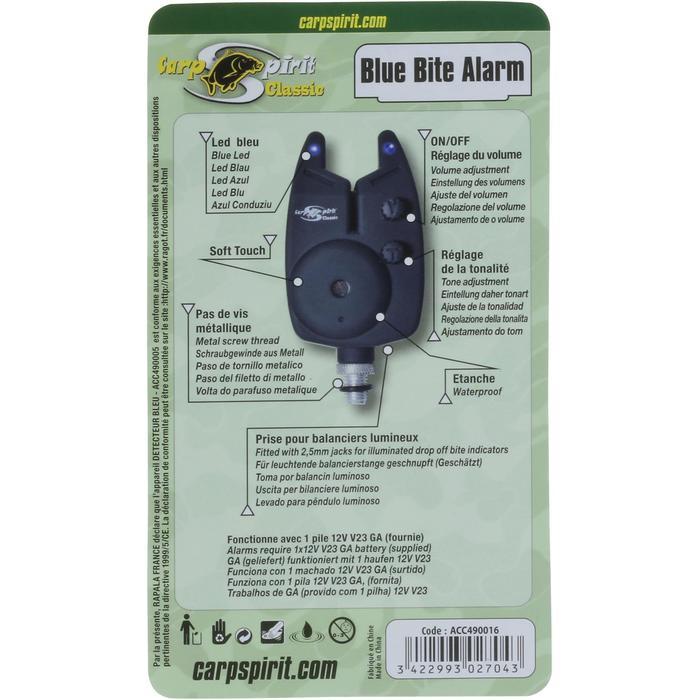 Bissanzeiger LED blau + Batterie Karpfenangeln