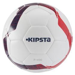 Balón de fútbol F100 híbrido talla 5 blanco