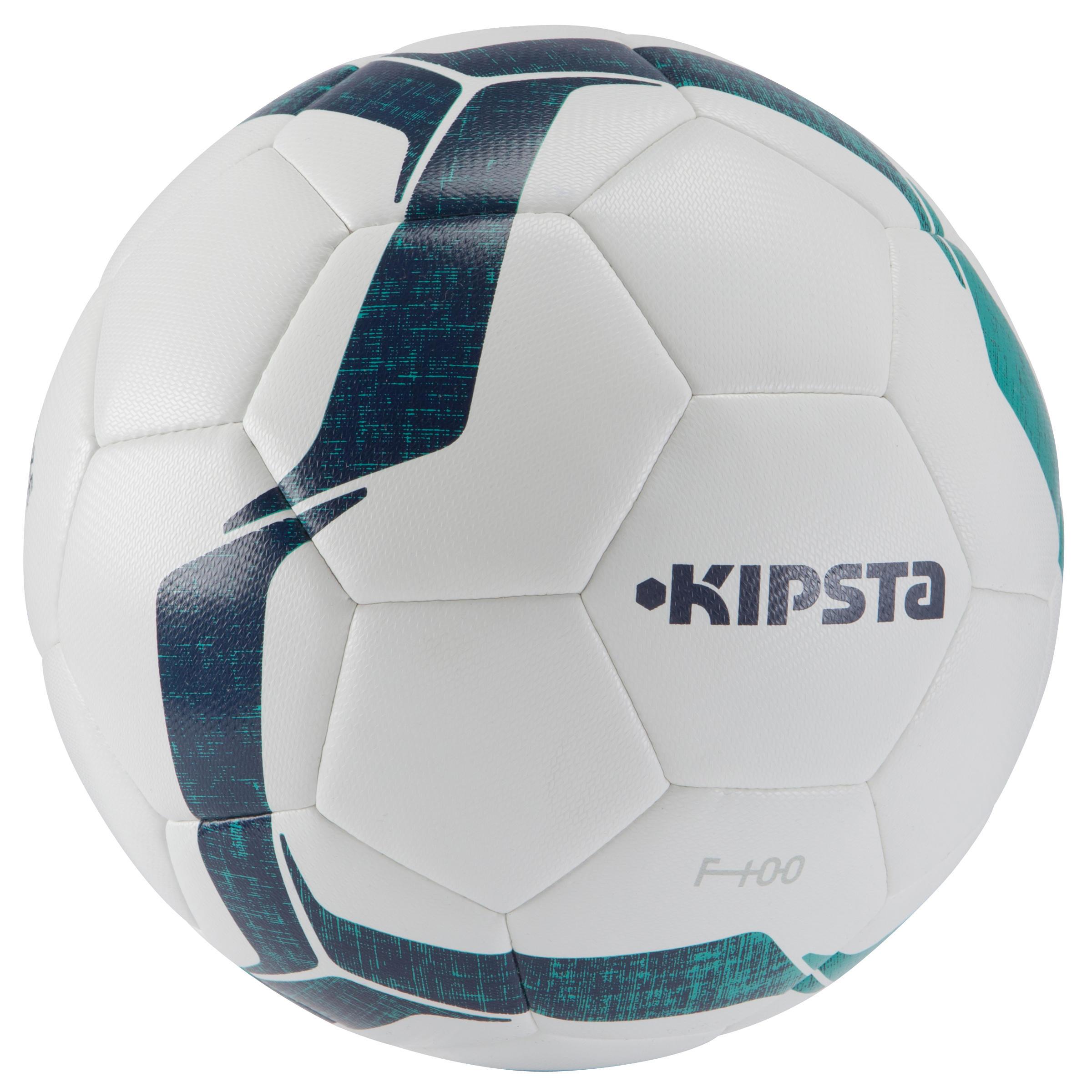 F100 Hybrid Soccer Ball Size 4 - White/Green