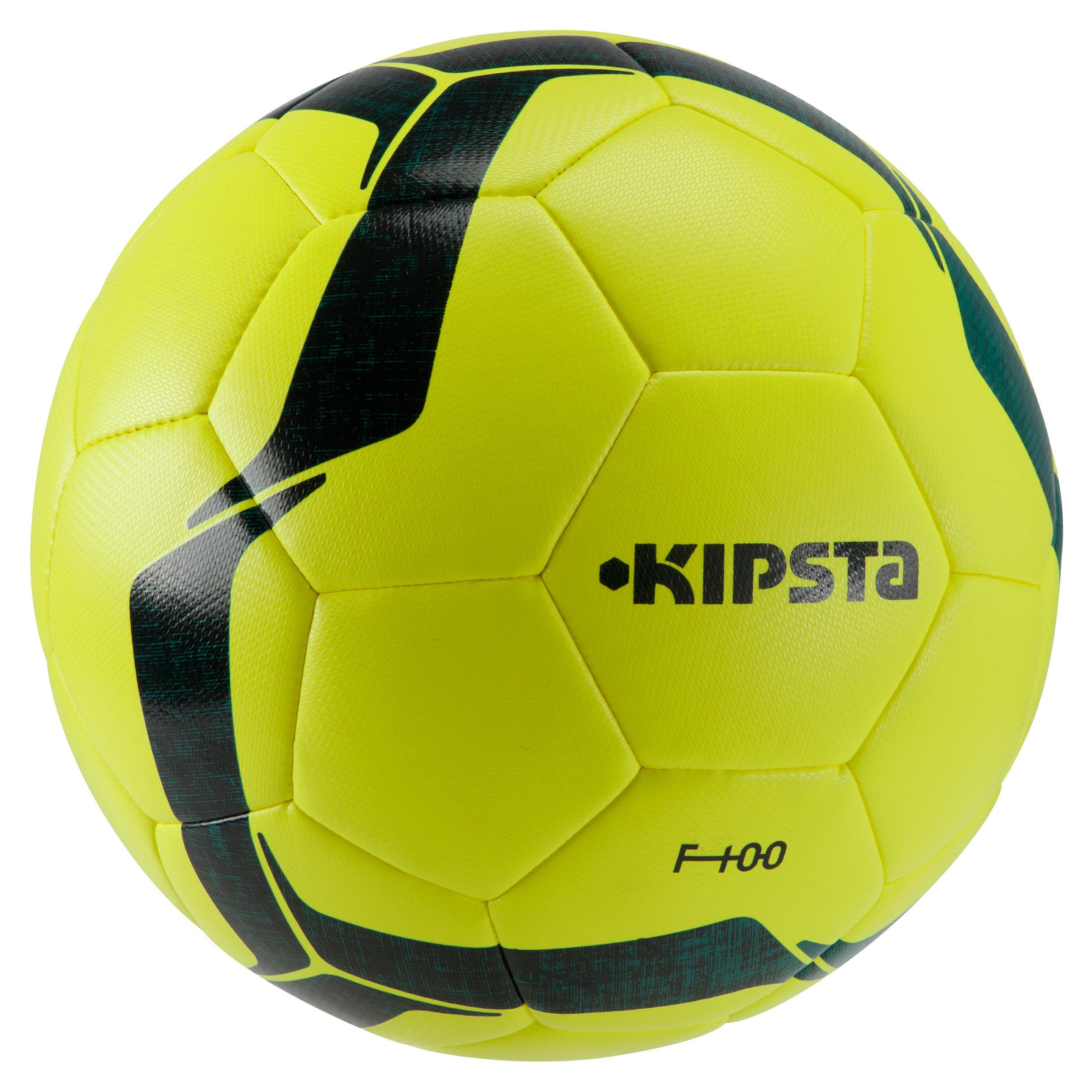 Football ball Size 5 F100 Hybrid - Yellow