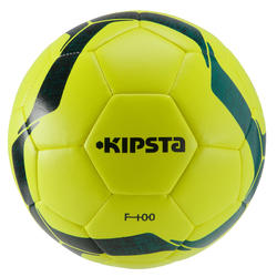 Football ball Size 5 F100 Hybrid - Yellow