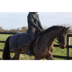 Pantalón cálido equitación mujer BR540 WARM gris bolsillos tela de espiga