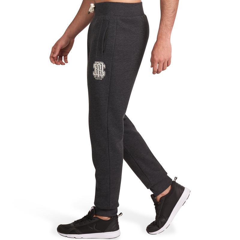 Pantalon imprimé slim fitness homme gris foncé