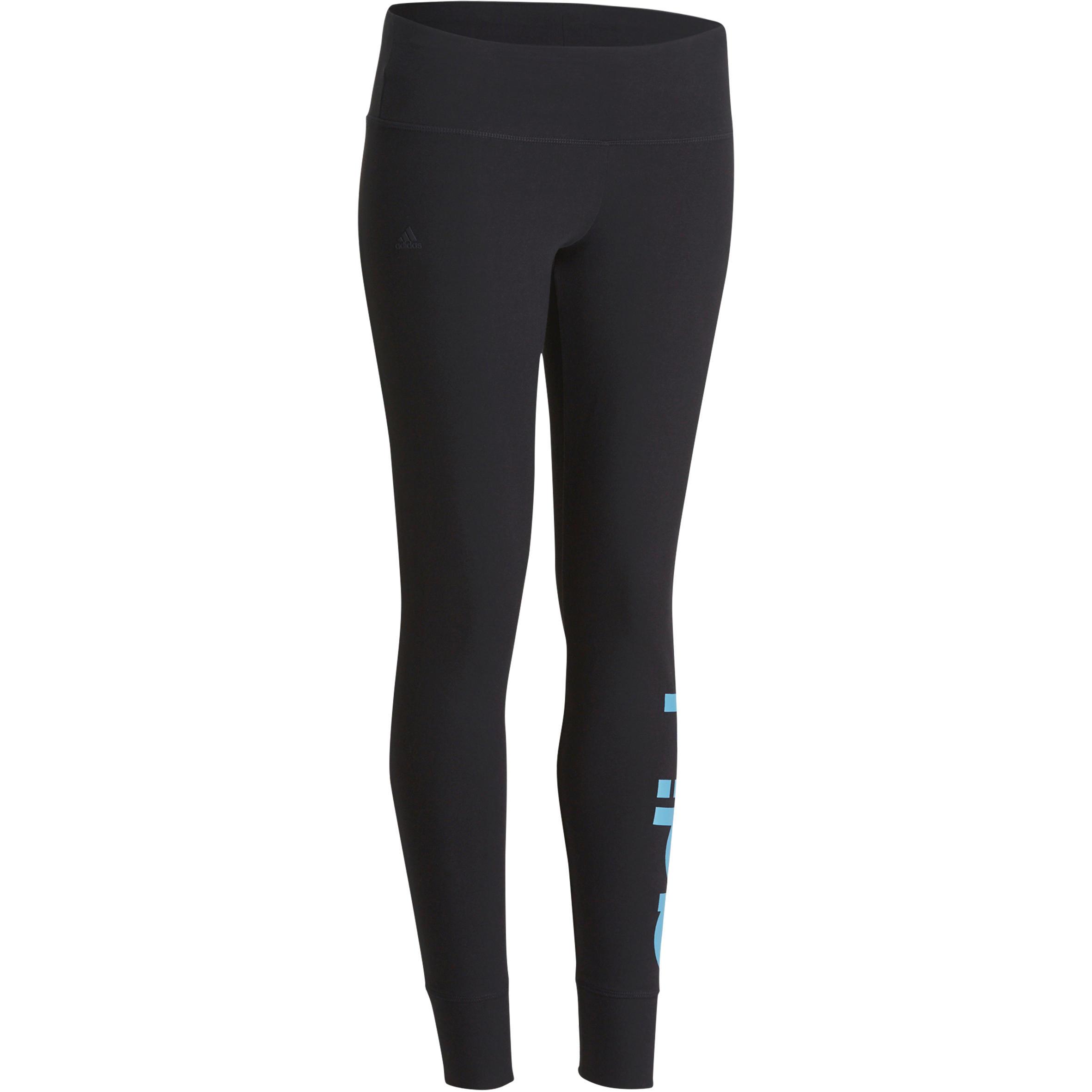 Adidas Fitnesslegging Linear voor dames marineblauw/lichtblauw