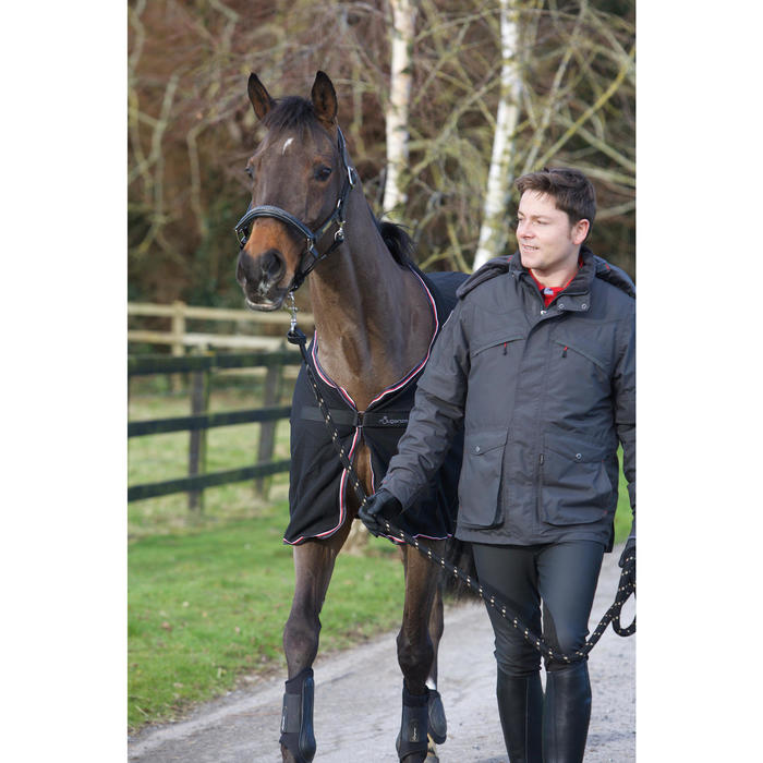Pantalón cálido e impermeable equitación hombre KIPWARM negro