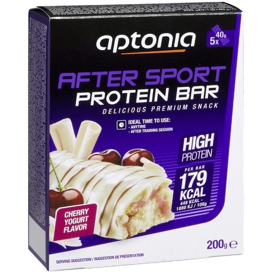 Eiwitreep AFTER SPORT kersen/yoghurt 5 x 40 g - 969308
