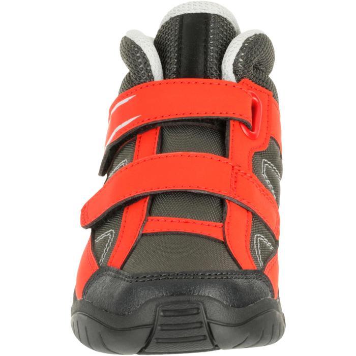 Botas de travesía niños Arpenaz 50 Mid rojo tiras autoadherentes