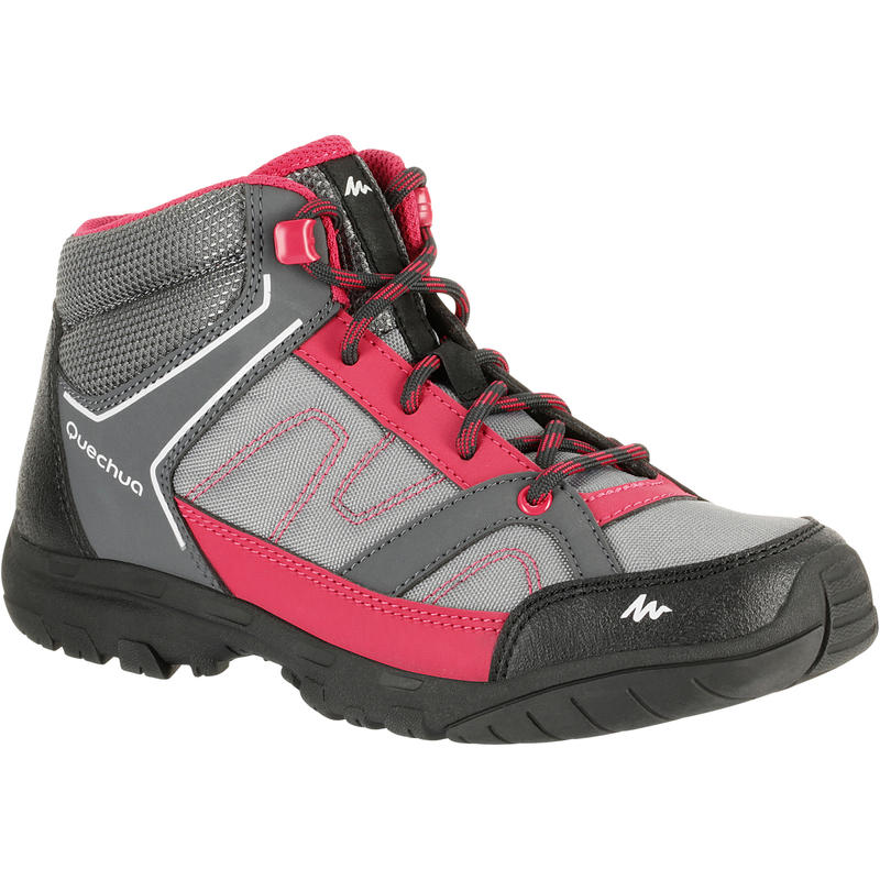 Arpenaz 50 Mid Children's hiking Shoes - Pink