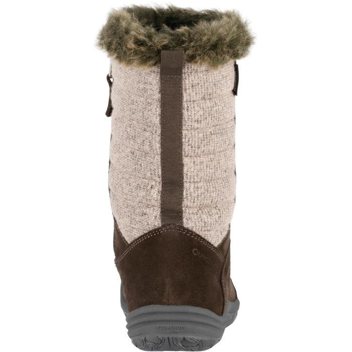 Bottes de randonnée neige Enfant SH900 chaudes imperméables cuir Cafe - 97115