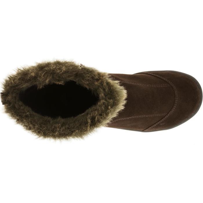 Bottes de randonnée neige Enfant SH900 chaudes imperméables cuir Cafe - 97121