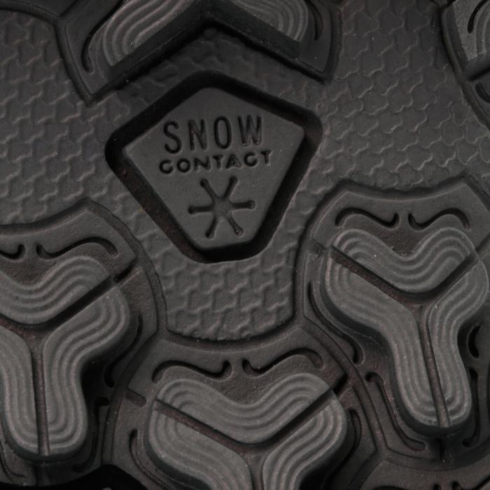 Bottes de randonnée neige Enfant SH900 chaudes imperméables cuir Cafe