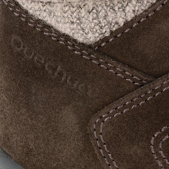 Bottes de randonnée neige Enfant SH900 chaudes imperméables cuir Cafe - 97135