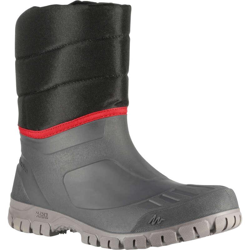 MEN SNOW HIKING WARM BOOTS Hiking - Arpenaz 50 Warm Men's Snow Boots - Black QUECHUA - Outdoor Shoes