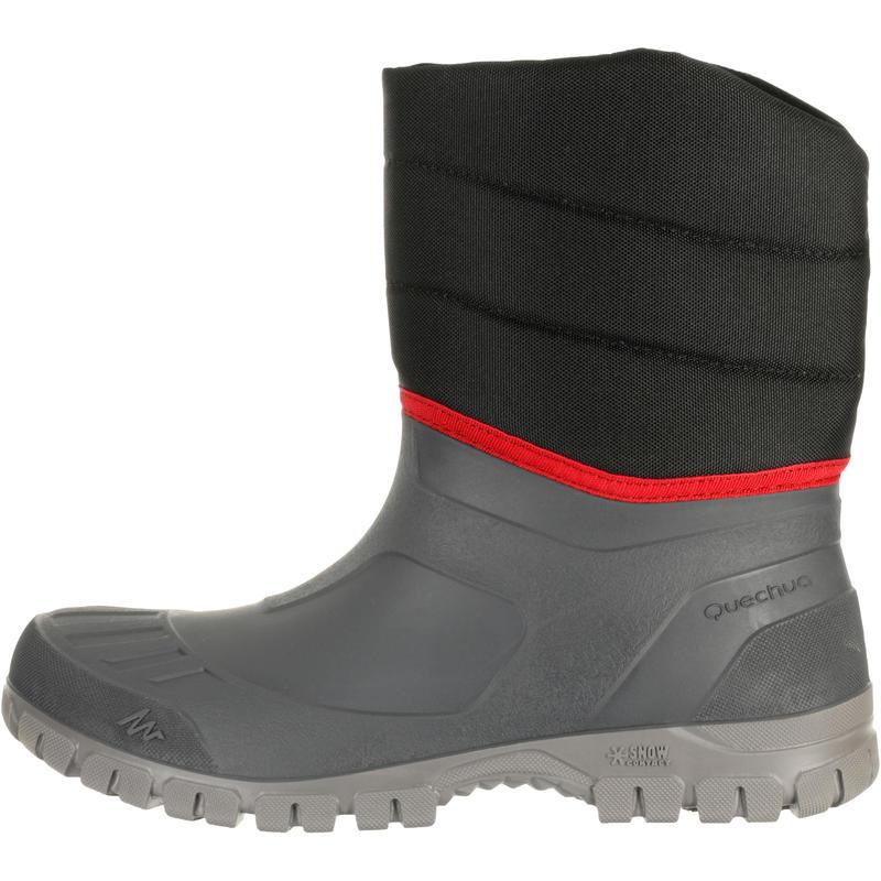 Bototos de hiking nieve Hombre SH100 warm negros.