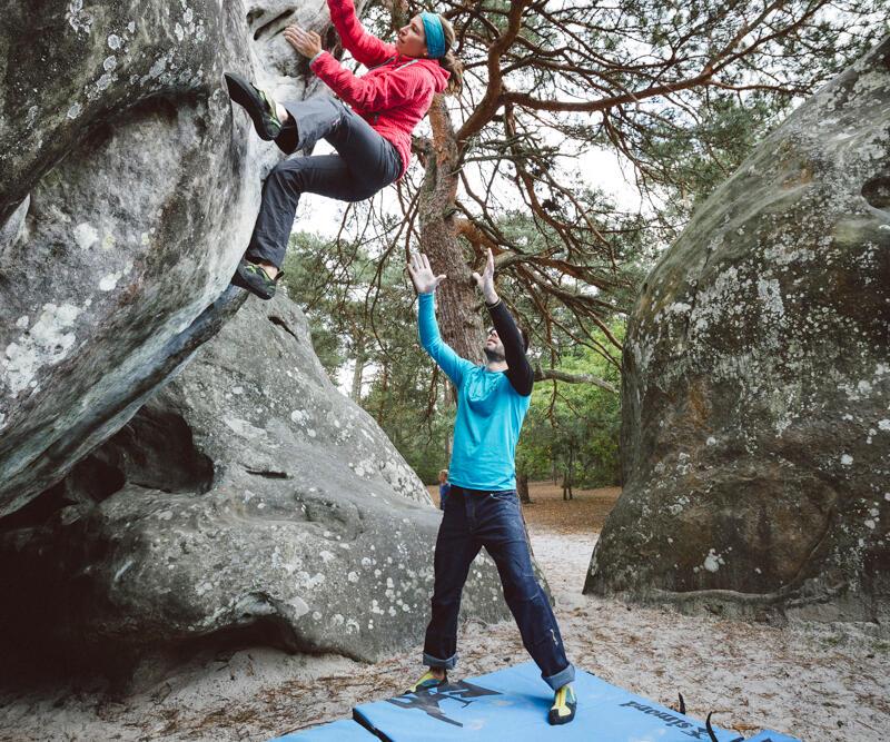 L'escalade en plein air pratiqué en duo