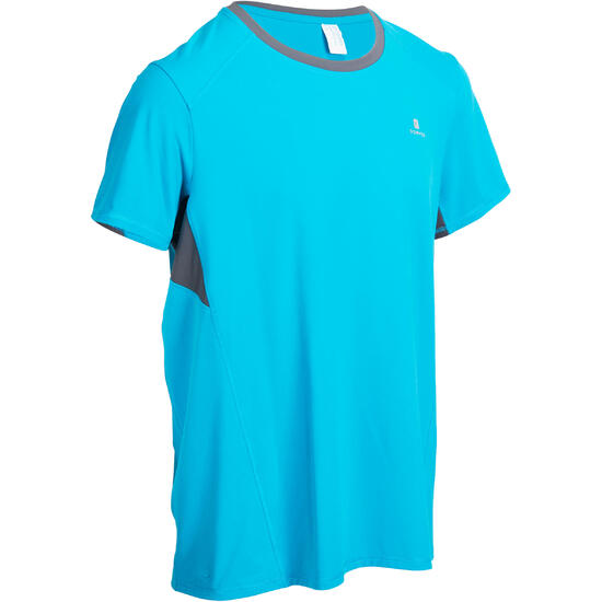 T-shirt fitness cardio heren geel met opdruk ENERGY - 975344