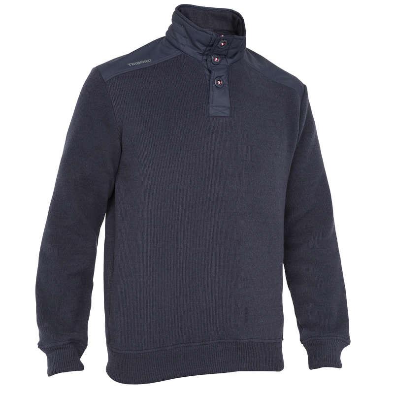 Pile e softshell uomo Sport Acquatici - Maglione uomo pull 100 blu  TRIBORD - Regata