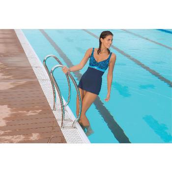 Bañador de natación 1 pieza mujer moldeador Kaipearl faldita negro