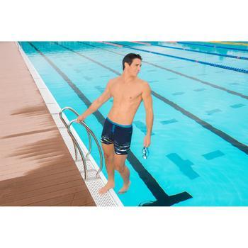 泳鏡100 EASYDOW,L號 - 藍色白色