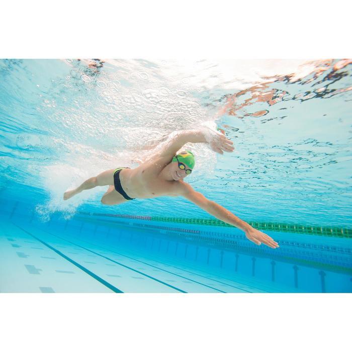 Heren zwemslip 900 Yoke marineblauw rood