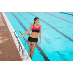 Sujetador-top de natación Leony Negro y Rosa