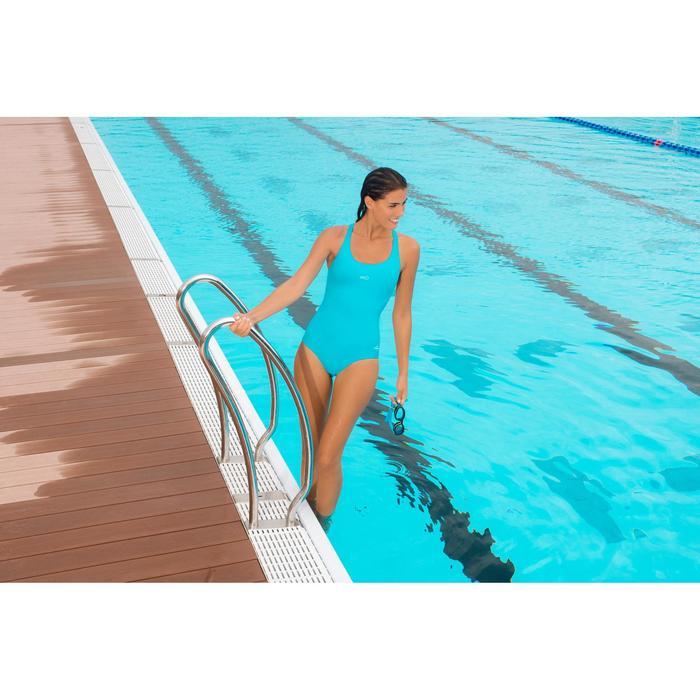 Maillot de bain de natation une pièce femme Leony + rose