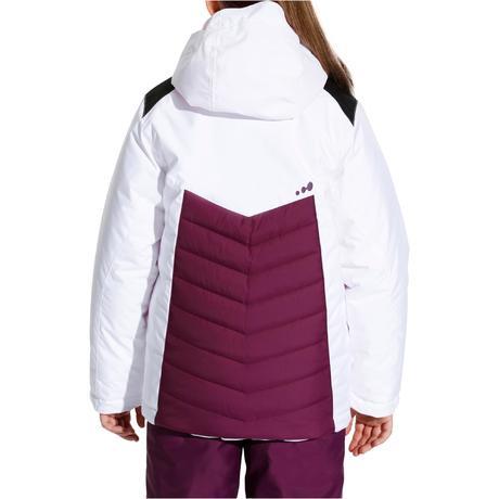 veste ski fille slide 100 blanche prune wedze. Black Bedroom Furniture Sets. Home Design Ideas