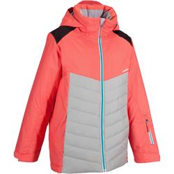 Slide 100 Girls' Ski Jacket - Coral/Grey