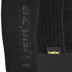 XWARM 兒童羊毛保暖滑雪打底衣 - 黑色- 黃色