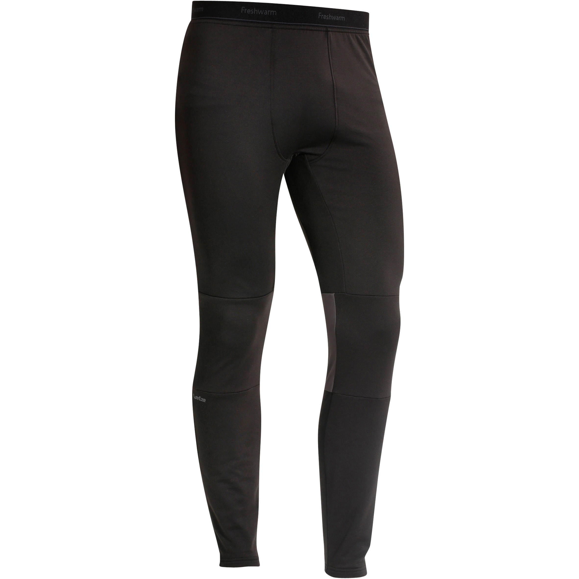 Freshwarm Men's Ski Base-Layer Bottoms - Black
