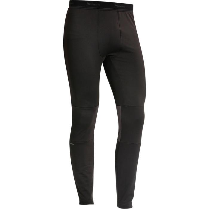 男款滑雪底層長褲FreshWarm - 黑色