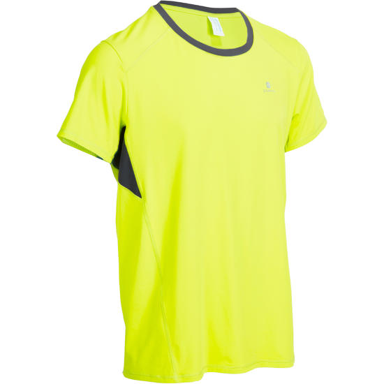 T-shirt fitness cardio heren geel met opdruk ENERGY - 977483