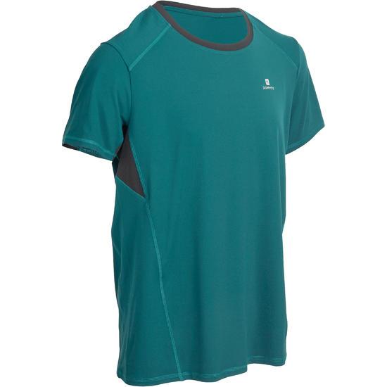 T-shirt fitness cardio heren geel met opdruk ENERGY - 977485