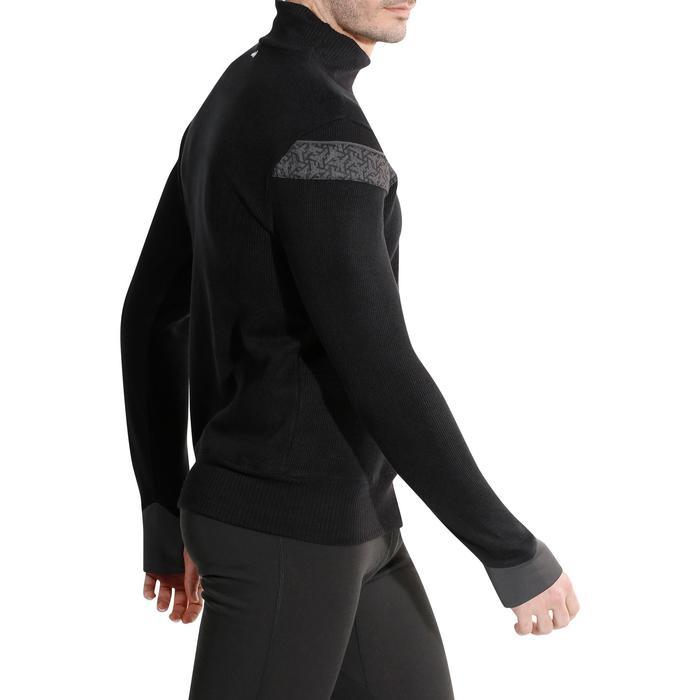 Heren skitrui Mid Warm 100 zwart