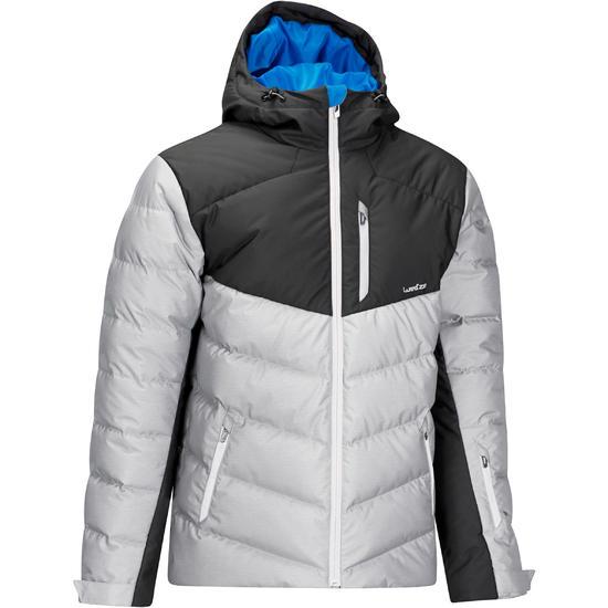 Heren ski-jas Slide 500 Warm grijs - 978052