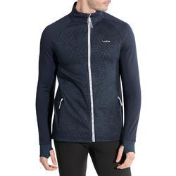 Chaqueta térmica de esquí lana hombre 500 azul