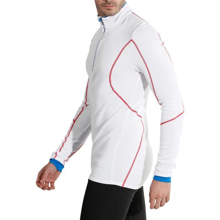 Skiunterwäsche Funktionsshirt XWarm Wolle Herren weiß rot